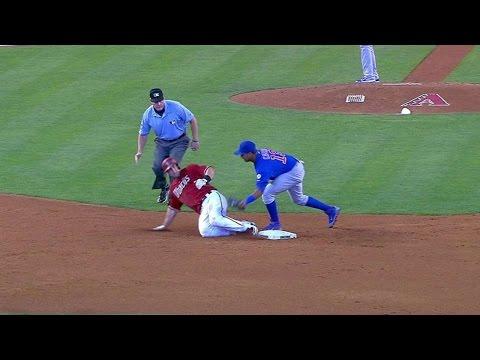 CHC@ARI: Cubs turn strike-'em-out, throw-'em-out DP