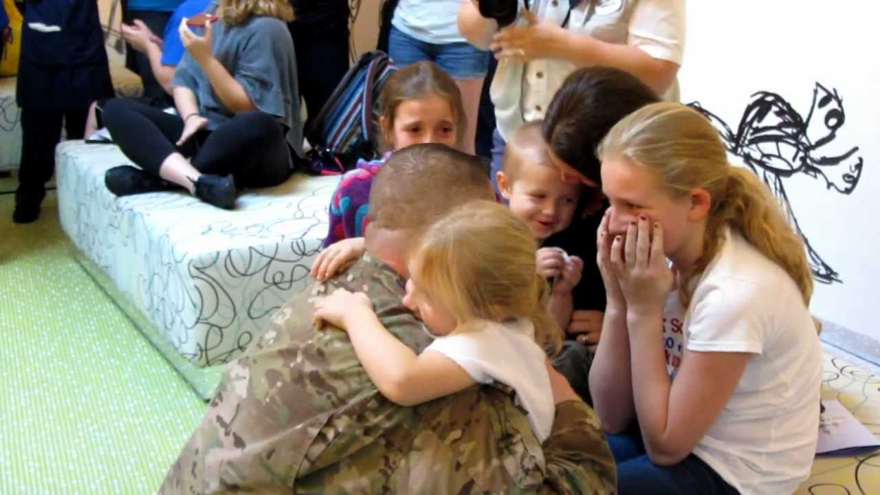 Military surprising family