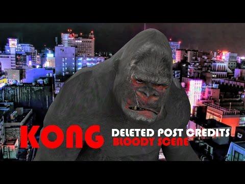 KONG Skull Island Post Credits Deleted Scene of Kong vs Godzilla Parody