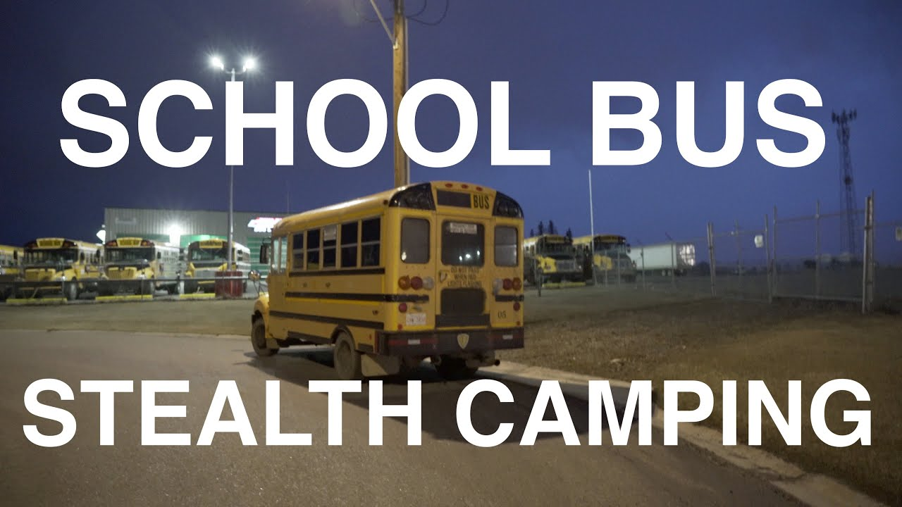 Stealth Camping In School Bus