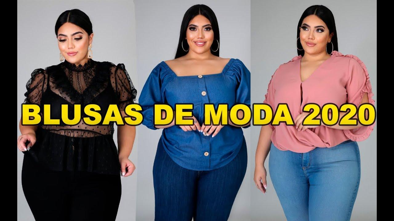 Blusas De Moda Para Gorditas 2020 Blusas Para Mujeres Talla Grande Youtube