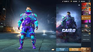 Opening New Character Carlo And Upgraded To Max Level 10 | 25.000 UC - PUBG Mobile