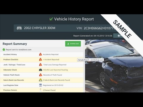 free vehicle history report youtube. Black Bedroom Furniture Sets. Home Design Ideas