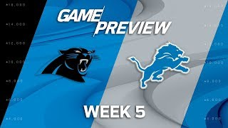 Carolina Panthers vs. Detroit Lions | Week 5 Game Preview | NFL Playbook 2017 Video