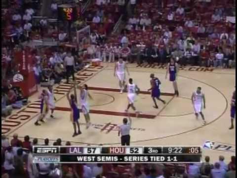 LA Lakers v Houston Rockets game 3 playoffs WCSF 2009 ...