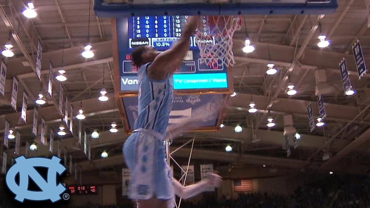 North Carolina's Garrison Brooks Beats The Buzzer With Slam Dunk