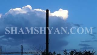 Արտակարգ իրավիճակ Երևանում  Կաթսայատան խողովակը քամու հետևանքով տեղաշարժվել է