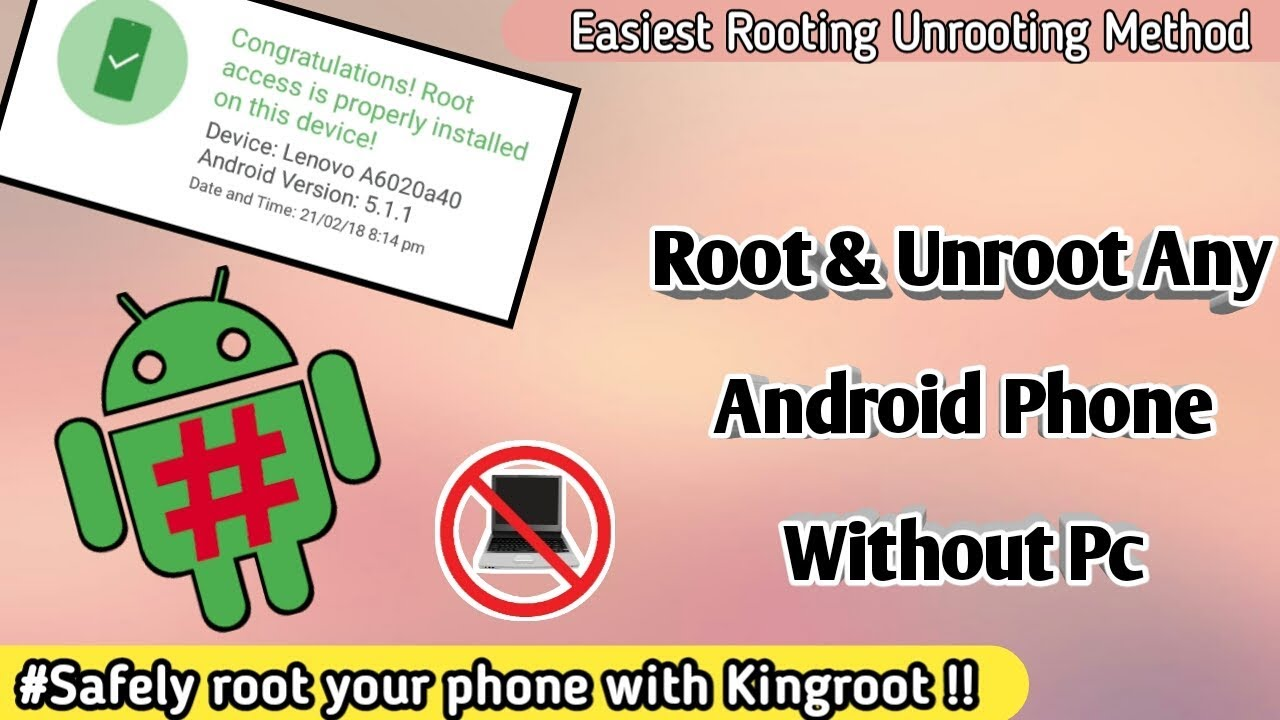 How to Unroot & Root Any Android Phone Without Pc 2018