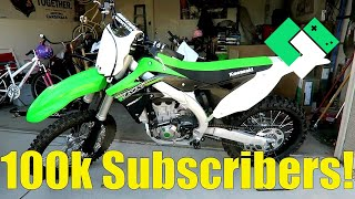 NEW DIRT BIKE FOR DAD! - 100,000 SUBSCRIBERS!
