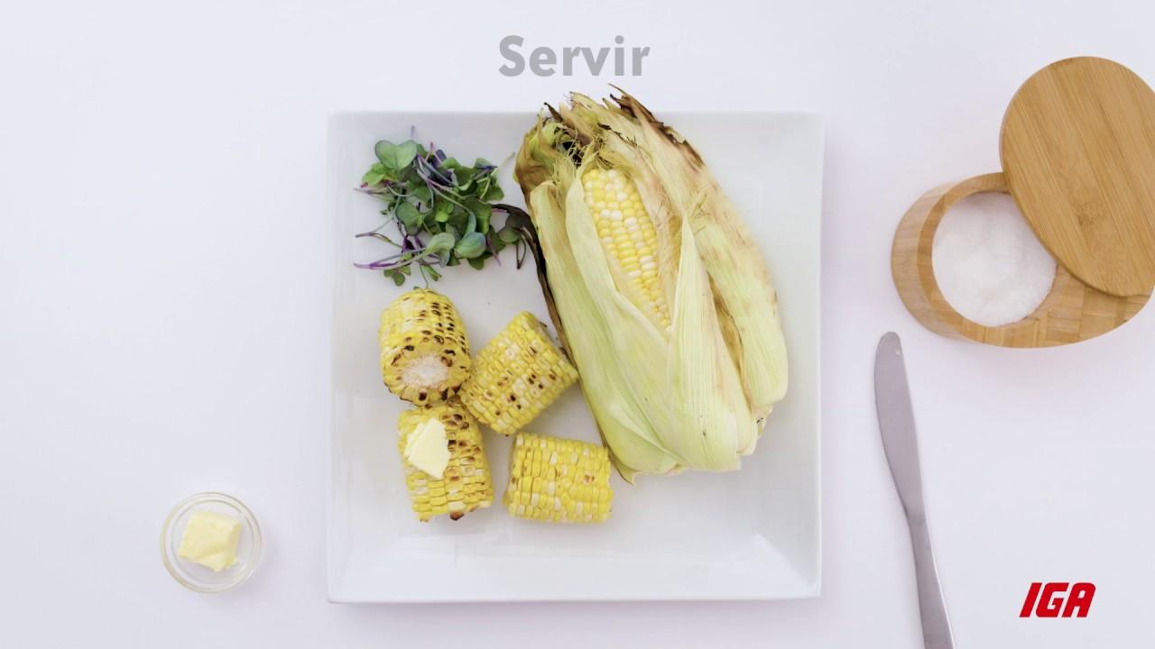 griller le maïs sur le barbecue - youtube