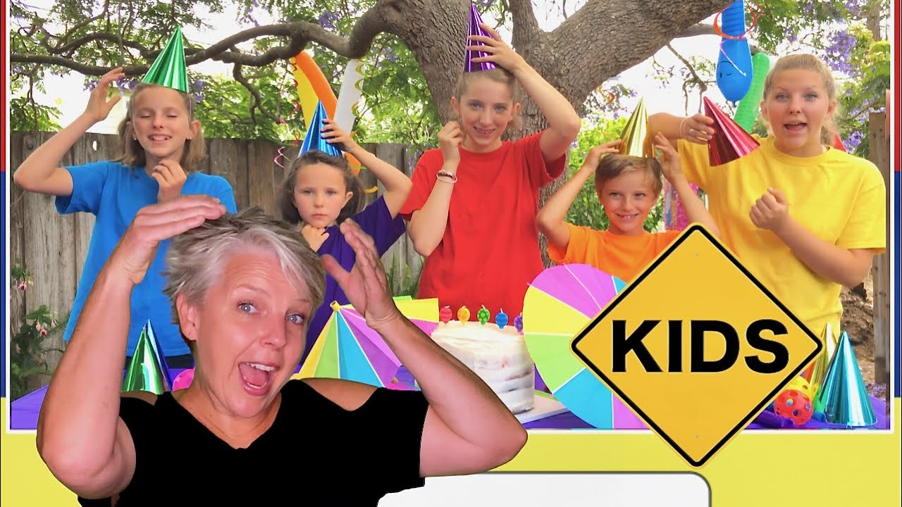 Read with Sign Post Kids Mommy! Rainbow Cake & Balloons!