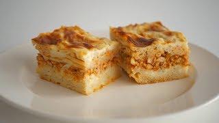 Вкусный обед или ужин из макарон и мясного фарша. Можно готовить заранее и заморозить