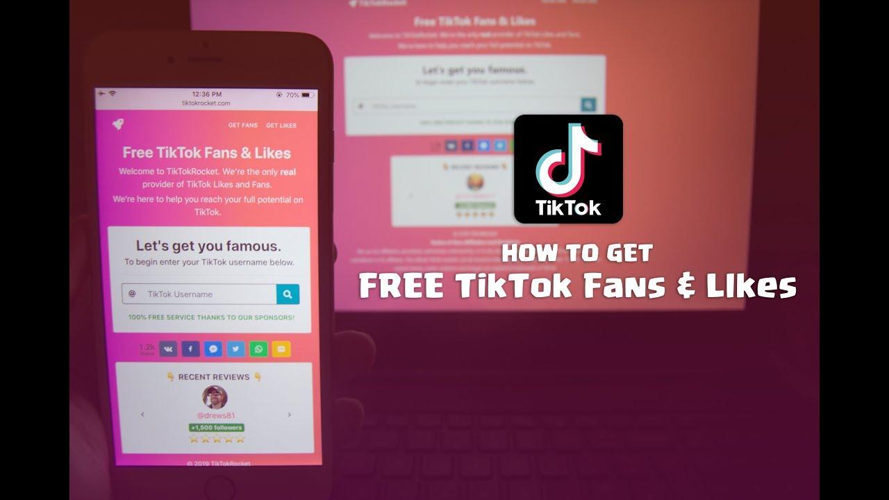 1 Source of Free TikTok Fans & Likes | TikTokRocket com