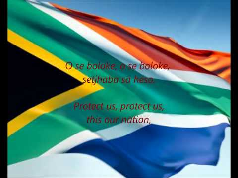 """South African National Anthem - """"Nkosi Sikelel' iAfrika"""" (XH/ZU/ST/AF/EN)"""