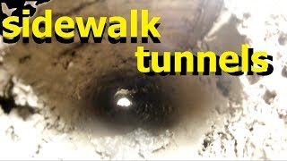 TUNNEL Sidewalk PIPE REMOVAL / INSTALL The BEST ways to install pipe under sidewalk