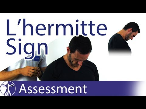 L'hermitte's Sign | Multiple Sclerosis / Myelopathy / Dorsal Column Disturbance