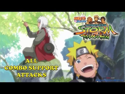 Naruto Shippuden Ultimate Ninja Storm Revolution All Combo Support Attacks