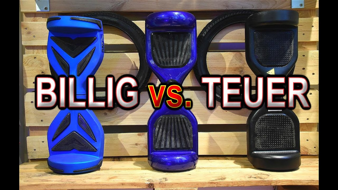 hoverboard billig vs teuer balance board test review deutsch german youtube