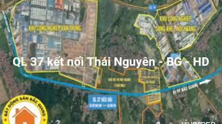 Hình ảnh QL 37 kéo dài qua kcn Vân Trung II Bán đất Chiền Si, Nội Hoàng Bắc Giang 0378543268