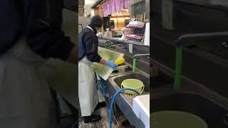 洗浄力支援装置「ドールマンショックSCWS」鮮魚部門デモ