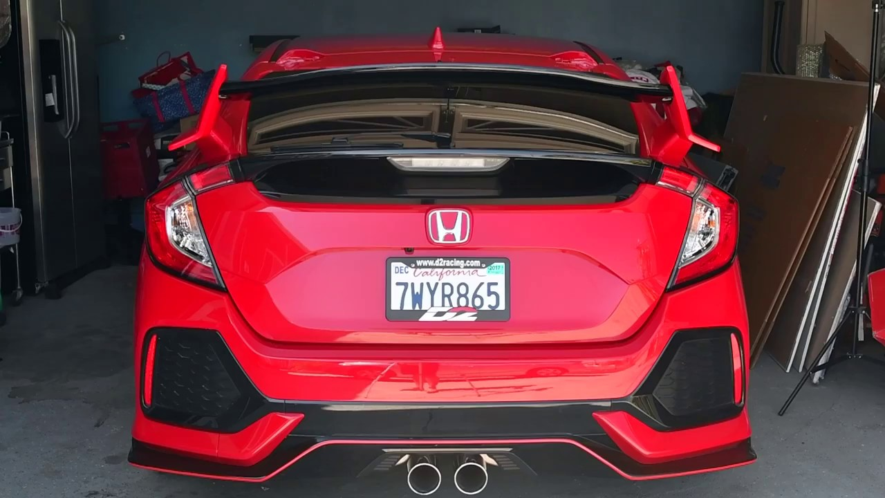 Honda Civic Type R Hatchback >> Roof Spoiler Disassembly Tutorial Honda Civic Hatchback Sport 2017 - YouTube