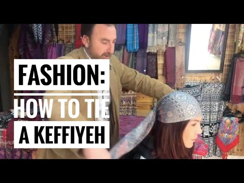 Fashion: How to Tie a Keffiyeh Shemagh  Middle Eastern head scarf