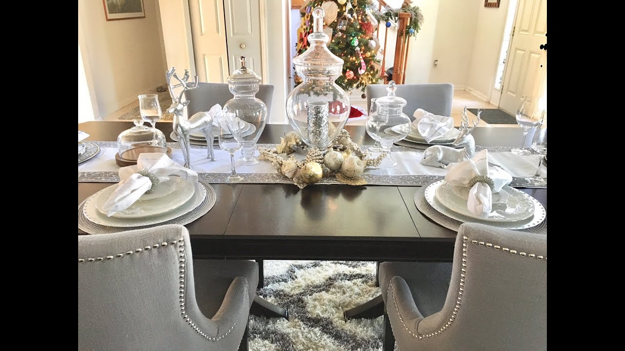 christmas dinner table decor setup 2017