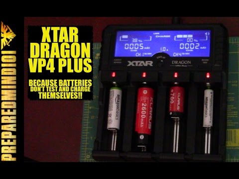 Xtar Dragon VP4 Plus: Because Batteries Don't Test And Charge Themselves!! - Preparedmind101