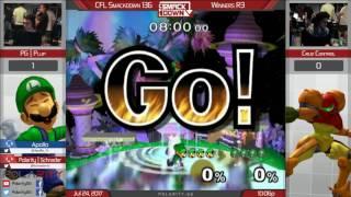 CFL Smackdown 136 Melee - PG | Plup (Luigi) vs Cruz Control (Samus) - Winners R3