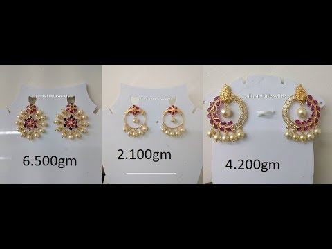 EPISODE=479 Indian Simple Gold Pearl Earring Designs
