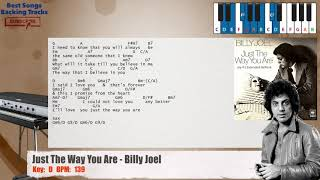 🎹 Just The Way You Are - Billy Joel Piano Backing Track with chords and lyrics