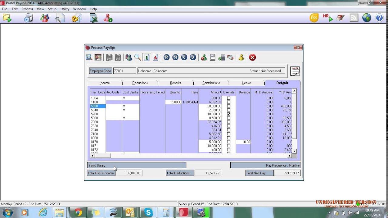 sage pastel payroll hr demo youtube rh youtube com Manual Payroll Calculations pastel partner payroll user manual