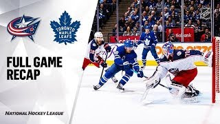 Columbus Blue Jackets vs Toronto Maple Leafs | Oct.21, 2019 | Game Highlights | NHL 2019/20.НХЛ