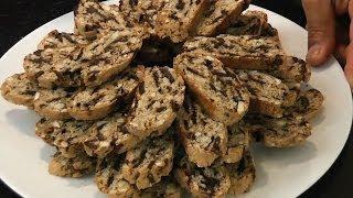 Almond, Orange, Chocolate Biscotti (biscotti Di Mandorla, E Cioccolata) -theitaliancookingclass.com