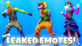 NEW! Leaked Fortnite EMOTES & SKINS Showcase..!! (ZOMBIE Tfue)