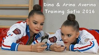 Dina & Arina Averina (RUS) Training World Cup Sofia 2016