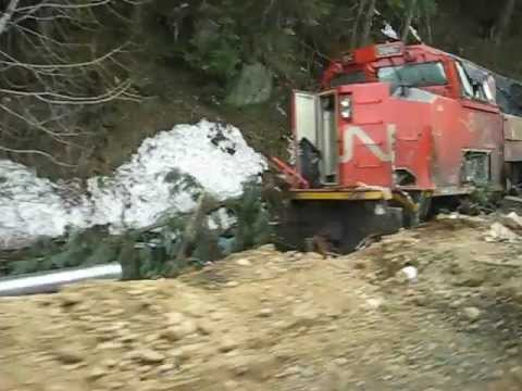 Freight Train Derailment Crash British Columbia 2012 - YouTube