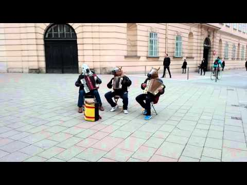 Music in the streets of Vienna, Austria - Museumsquartier
