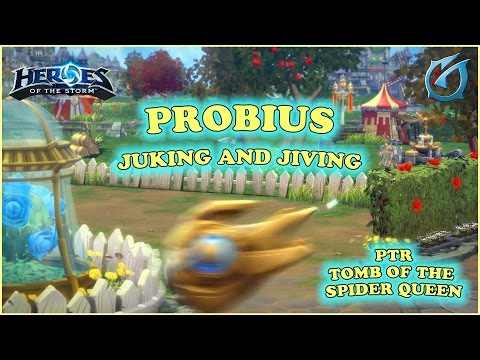 Grubby | Heroes of the Storm | Probius  -  Juking and Jiving - PTR - Tomb of the Spider Queen