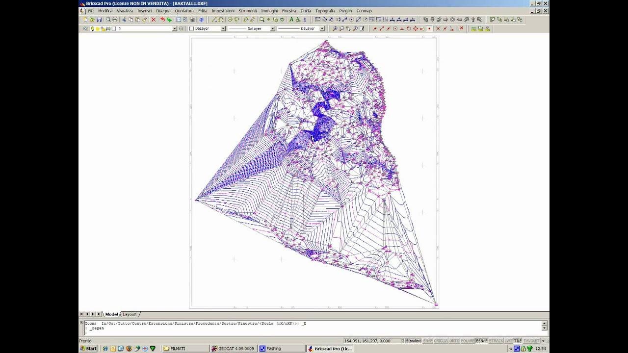 Geocat modello matematico del terreno piani quotati e for Piani di coperta multi livello