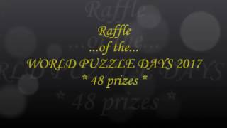 Raffle of the World Puzzle Days 2017