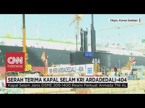Kapal Selam KRI Ardadedali-404 Resmi Perkuat Armada TNI AL