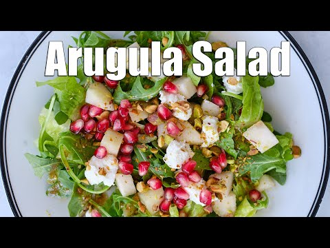 Arugula Salad with Goat Cheese and Pears | Salad Recipe