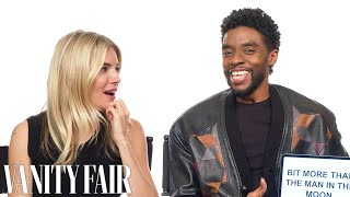 Chadwick Boseman and Sienna Miller Teach You South Carolina and British Slang | Vanity Fair