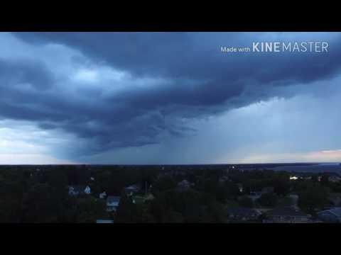 Oncoming Storm Front! Over Pembroke, Ontario - DJI Phantom 3 Standard