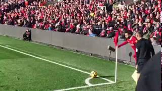 from the stands| Emre Can goal| Liverpool - West Ham| 24.02.2018