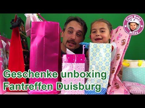 GESCHENKE auspacken | Fangeschenke Duisburg | Viele Überraschungen | Cutebabymiley