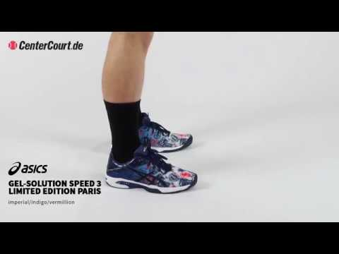 bd0394417cca asics Gel Solution Speed 3 Paris Limited Edtion - YouTube