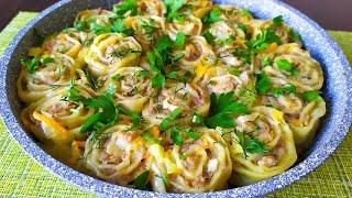 Вкусный ОБЕД или УЖИН из простых продуктов! Что приготовить из ФАРША | Мясные ШТРУЛИ быстро и вкусно
