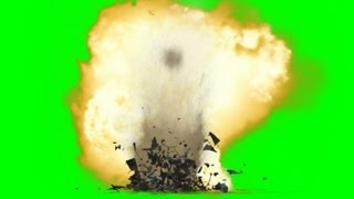 Download Bomb Ground Explosion Effect green screen with sound - free use